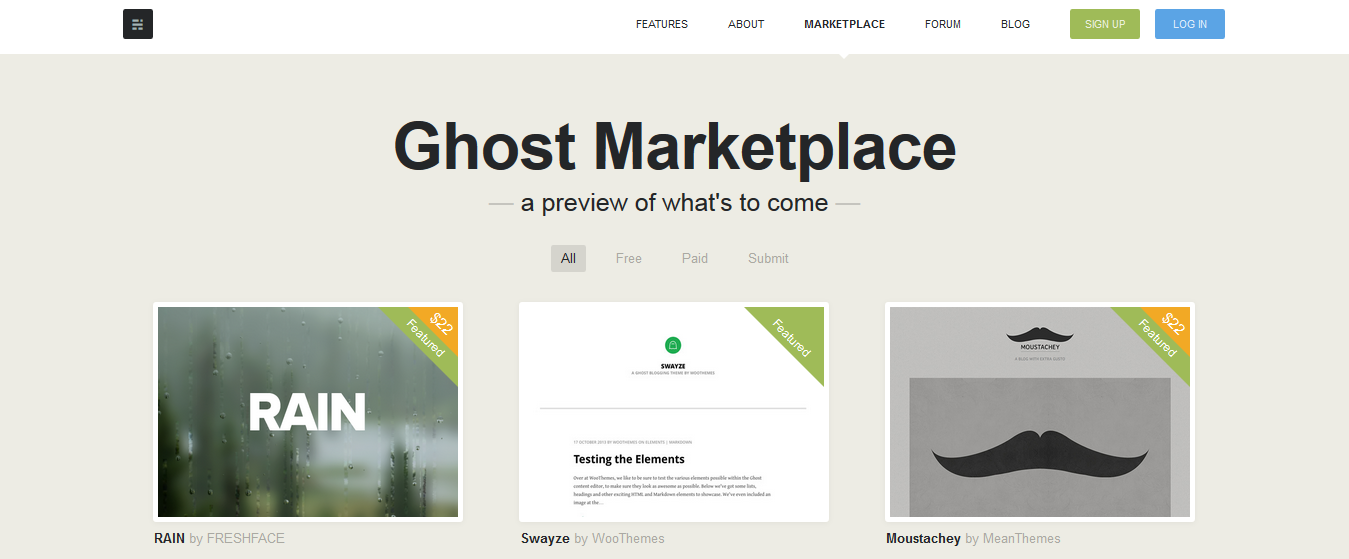 Ghost Marketplace